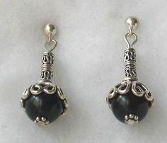 hand crafted ear wires | Handmade Gemstone Beaded Earrings