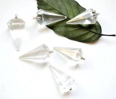 Buy Now Nature big size clear agate stone Pendulum Pendant... Clear Quartz Crystal, Crystal Pendant, Rose Quartz, Agate Stone, Green Stone, Stone Pendants, Stud Earrings, Crystals, Nature