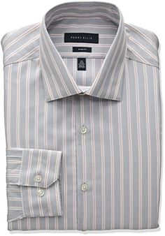Perry Ellis Collection Men's Slim Fit Stripe Non-Iron Dress Shirt     #MardiGras #FatTuesday  #ForHim #ForHer #Holidays #GiftIdeas #Gifts #Affiliate