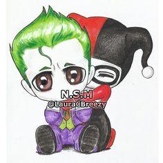 The Joker ❤ Harley Quinn - Photo Archive X Harley E Joker, Joker And Harley Tattoo, Harley Tattoos, Joker Drawings, Disney Drawings, Cute Drawings, The Joker, Joker Art, Joker Batman