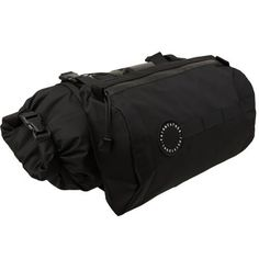 Water resistant zipper and fabric.    Roll top bag with accessible sizes.     Detachable accessory bags with adjustable straps designed to:  adjust the accessory bags to be compatible with any handles and stems.  compress the roll bag.  cary camping supplies and larger items.    Accessory pocket with clear touch panel to allow for map viewing and the use of touch-screne devices.