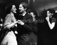 Women dancing together at The Gateways Club or 'The Gates' in Chelsea in 1953, one of the few places where lesbian women could meet openly and be together in the post-war years in Britain. - Alan Vines - 1953-03-14