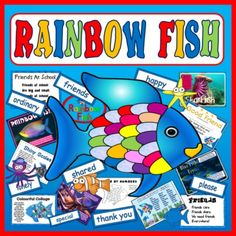 CD Rainbow Fish Story Teaching Resources EYFS English Friend Feelings for sale online Anti Bullying Activities, Emotions Activities, Eyfs Activities, Color Activities, Reading Activities, Rainbow Fish Story, Rainbow Poem, All About Me Display, Friendship Activities