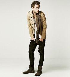 to numa fasezinha trench coat   Very sleek and slim! Also, quite european!