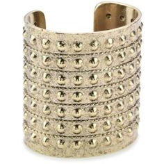 Low Luv by Erin Wasson Gold Plated Large Gladiator Cuff