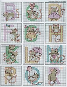 Mice Alphabet 3