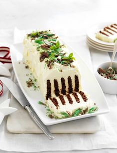 The popular chocolate ripple cake is topped with layers of cream and peppermint crisp INGREDIENTS: 900 ml Western Star Thickened Crea. Baby Food Recipes, Mexican Food Recipes, Sweet Recipes, Baking Recipes, Cake Recipes, Snack Recipes, Dessert Recipes, Snacks, Cheap Recipes