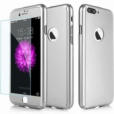 3ff79157c Tempered Glass Phone Case Full Body Protection Hybrid 360 Case Hard Ultra  Thin Capa Cover For Fundas iPhone 7 6 6S 7 Plus 5S SE