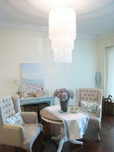 Awesome DIY capiz chandelier