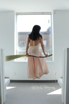 Harry Potter style Broom Levitation by Aoife Blake Photography.