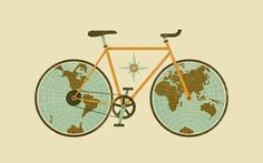 Pin for Later: Free and Fabulous Desktop Wallpapers For Spring Traveling Bike by Jude Landry There's no better time than Spring to go for a bike ride or travel the world — this desktop illustration reminds us of just that.