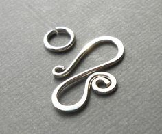 Large Sterling Silver Spiral Clasp Silver Hook by dmsupply on Etsy #jewelryfinding