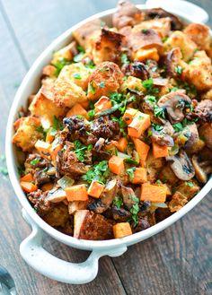 Chorizo Stuffing with Ciabatta and Sweet Potatoes
