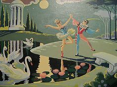 Vintage paint by numbers scene featuring Columbine and Pierrot Number Art, Paint By Number, Lilac Sky, Pictures To Paint, Painting Pictures, Vintage Artwork, Art For Art Sake, Box Art, Art Forms