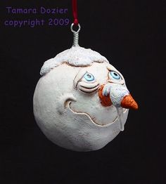Let it Snow!, Creative Paperclay® Christmas holiday ornament