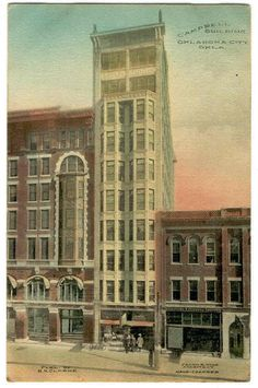 1910 Hand Colored Postcard The Campbell Building Oklahoma City Hyde Architect