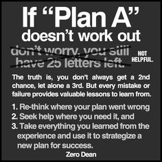'If Plan A doesn't work out…'