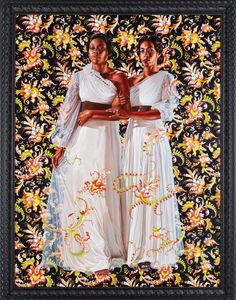 Kehinde Wiley's Muses As They First Appeared, On Canvas, In 2012. Dacia Carter and Khalidiah Asante.  Photo: Jason Wyche/Courtesy of Sean Kelly, New York