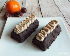Bûchettes à la crème de marron & clémentine   { Sans sucre - Sans lactose - Sans gluten - Faible en MG }