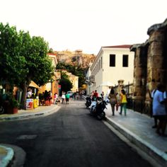 """See 1489 photos from 16379 visitors about café, areas in athens, and acropolis. """"Historic Plaka is down to the Acropolis hill and is full of. Acropolis, Athens, Greece, Street View, Heart, Greece Country, Athens Greece, Hearts"""