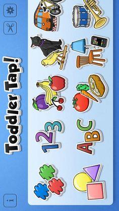 Toddler tap er gratis, det er flashcards til alle begynderemnerne, som farver, bogstaver, dyr mm. Den er fin at gentage efter.