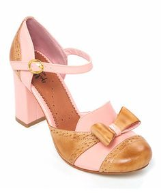 Loving this Shellys London Pink Dolly Mixture Leather Pump. These are cute!