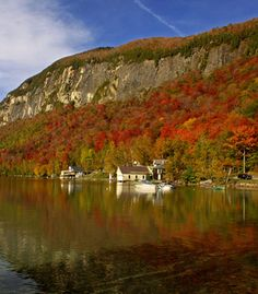 Fall is the perfect time to honeymoon in Vermont, with shimmering red and gold leaves adorning the mountains