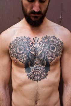 Intricate chest piece by Martin @ Craftz Berlin Tattoo Haus