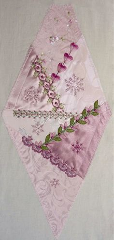I ❤ crazy quilting, beading & ribbon embroidery . . . Gorgeous October 2012 CQJP Block ~By Susie W