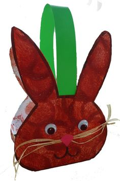 easter bunny basket craft idea for kids Easter Art, Easter Crafts For Kids, Craft Kids, Spring Crafts, Holiday Crafts, Sleeping Bunny, Basket Crafts, Easter Bunny Decorations, Easter Activities