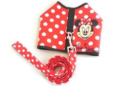 Polka Dot Minnie Mouse Dog Puppy Clothes Harness by lilypetwear, $16.99