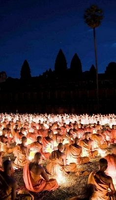 Visakha Bucha Day - Angkor Wat, Cambodia (by DarrenWilch on Flickr)