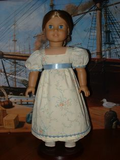 1812 Regency set Dress Pantalettes and Spencer Jacket American Girl doll. $98.00, via Etsy.