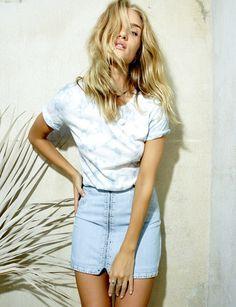 PAIGE®   Rosie HW x PAIGE Collection Hattie Zip Skirt - Katie Embellished