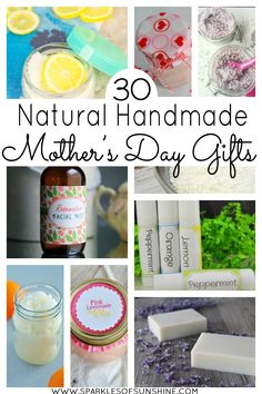 Celebrate Mother's Day naturally this year with this collection of easy to make natural homemade gift ideas!