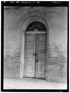 10.  Historic American Buildings Survey Richard Koch, Photographer August, 1936 DETAIL DOOR ON FRONT FACADE AT EAST END - Chretien Point Plantation, Sunset, St. Landry Parish, LA