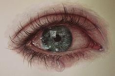 Eye painting by gimmegammi.deviantart.com on @deviantART // parece real.. está pintado a papel y lápiz