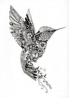 58 Trendy Ideas For Tattoo Animal Mandala Tatoo Black Tattoos, Body Art Tattoos, Girl Tattoos, Tattoos For Guys, Sleeve Tattoos, Tattoo Flash, Hummingbird Tattoo Black, Hummingbird Tattoo Meaning, Tattoo Perro