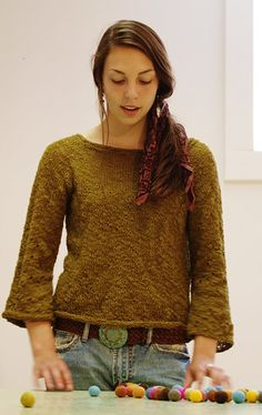 Mothed Pullover:#knit #knitting #free #pattern #freepattern #freeknittingpattern #knittingpattern
