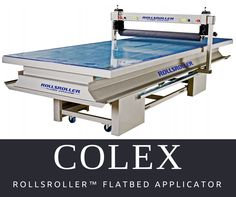 #Colex offer #Rollsroller #FlatbedApplicator enables a single person to apply all types of self-adhesive vinyl, applicator film and protective laminate in just a few minutes. It gives you complete control over positioning and produces results that are free from bubbles and creases.