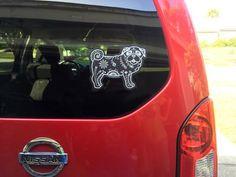 Sugar Skull Pug Decal - My Dog Is My Co-Pilot
