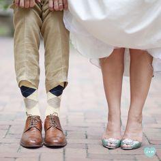plaid socks for groom