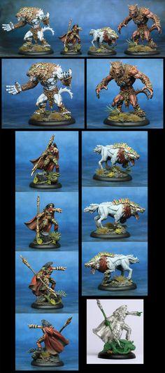 Hordes Circle group - Kaya, Laris and Warpwolves