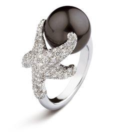 Ring | Mikimoto Designs. 18k white gold, Tahitian pearl and white diamonds