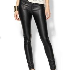 Blank NYC Faux Leather Pants Worn once! Size 25 but can fit a 24 as well depending on desired fit! They're tight on me around my hips and I'm a true 25, I wouldn't recommend for someone with hips/curves as they don't stretch much. Such a dope closet staple! No trades please ❤️ Blank Denim Pants Skinny