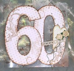 221. 60th birthday card on acetate base. #handmade #60th #birthday