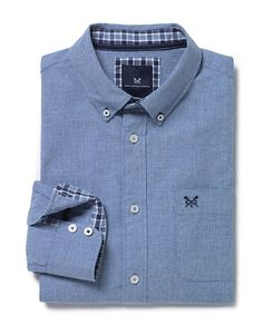 Men's Hickling Classic Shirt in Tide Blue from Crew Clothing, £60.00