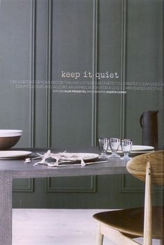 Green-grey painted Millwork; Zuster