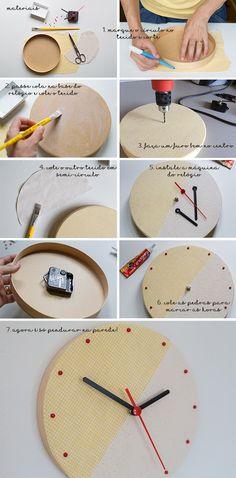 relógio DIY