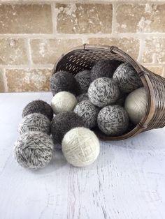 Wool Dryer Balls 6 Felted Dryer Balls Laundry by AgapeKnits Bone Crafts, Metal Crafts, Nepal Flag, Felt Ball Rug, Wool Dryer Balls, Grey Carpet, Cotton Bag, Wool Felt, Craft Supplies